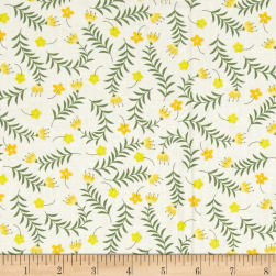 Bright Side Sprigs White Fabric