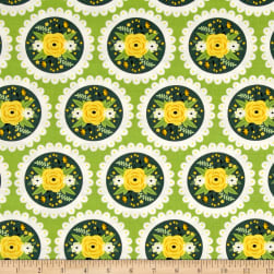 Bright Side Doily Green Fabric