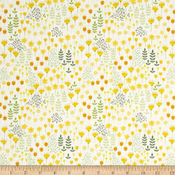 Bright Side Meadow White Fabric