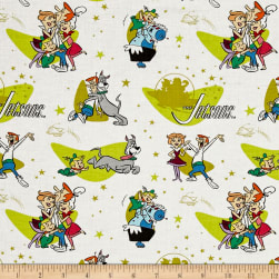The Jetsons Family Love White Fabric