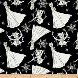 Disney Frozen Elsa Black Fabric