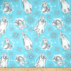 Disney Frozen Anna Teal Fabric