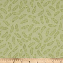 Bloomsberry Feathers Green Fabric