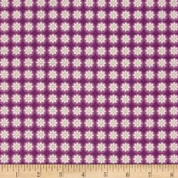 Michalina Small Floral Purple Fabric