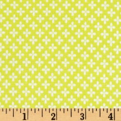 Natures Birds Peite Floral Citron Fabric