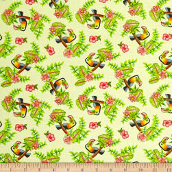 Pink Lady Toucan Yellow Fabric