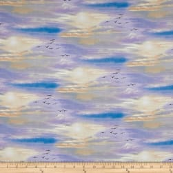 African Animals Sky Multi Fabric