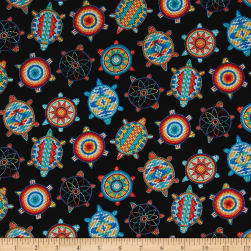 Tuscon Beaded Icons Black Fabric