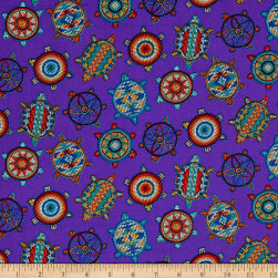 Tuscon Beaded Icons Purple Fabric