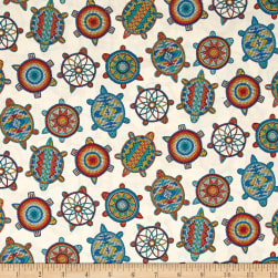 Tuscon Beaded Icons Cream Fabric