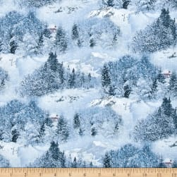 Landscape Medley Scenic Snow Fabric