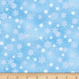 Landscape Medley Snowflakes Snow Fabric