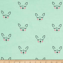 Riley Blake Double Gauze Deer Mint Fabric