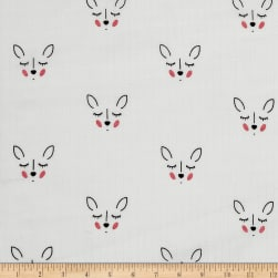Riley Blake Double Gauze Deer White Fabric