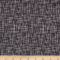 Riley Blake Hash Tag Large Charcoal Fabric
