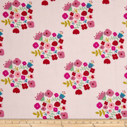Riley Blake  Double Gauze Hedgerow Bouquet Pink