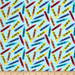 Riley Blake Crayola Colorfully Creative Knit Crayola Crayon Blue
