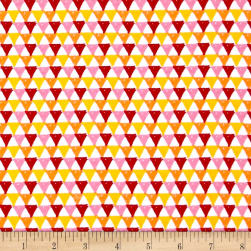 Riley Blake Colorfully Creative Knit Crayola Triangle Pink