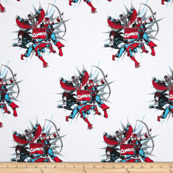 Marvel Comics Dot Burst White Fabric