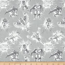 Marvel Comics Tonal Light Grey Fabric