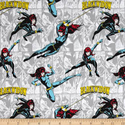 Marvel Comics Black Widow Light Grey Fabric