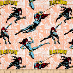Marvel Comics Black Widow Peach Fabric