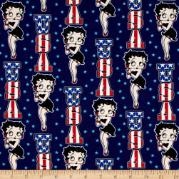 Red White & Boop USA Navy Fabric