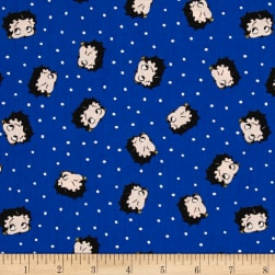 Red White & Boop Betty Dot Royal Fabric