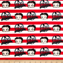 Red White & Boop Stripes Ruby Fabric