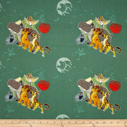 Disney Lion Guard All For One Sage Fabric