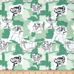 Disney Lion Guard Team Roar Sage Fabric