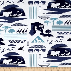 Disney Lion Guard Savannah Navy Fabric