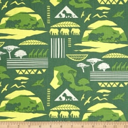 Disney Lion Guard Savannah Sage Fabric