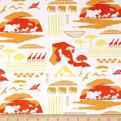Disney Lion Guard Savanna Orange Fabric