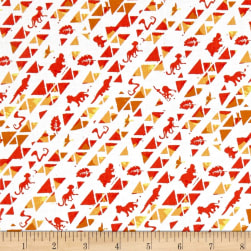 Disney Lion Guard Triangles Orange Fabric