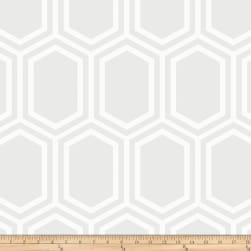 Opalescent Hexagon White Fabric