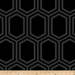 Opalscent Hexagon Black