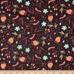 In The Woods Forest Floor Dark Brown Fabric