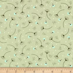 In The Woods Sprigs Light Sage Fabric