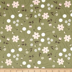 In The Woods Wild Garden Sage Fabric