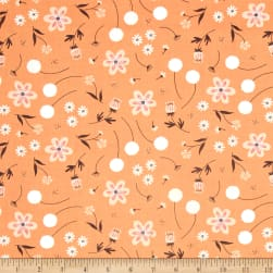 In The Woods Wild Garden Orange Fabric