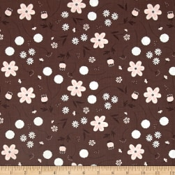 In The Woods Wild Garden Dark Taupe Fabric