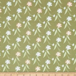 In The Woods Floral Vine Sage Fabric
