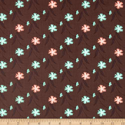 In The Woods Floral Vine Dark Taupe Fabric
