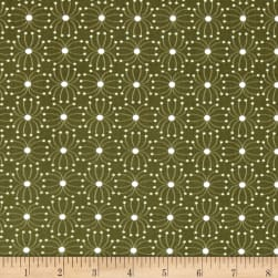 In The Woods Seeds Dark Green Fabric