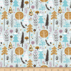 Snowfall Tundra Light Blue Fabric