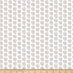 Snowfall Snowflakes White Fabric