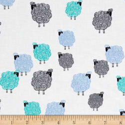 Michael Miller Eyes On Ewe Baa Baa Baby Blue