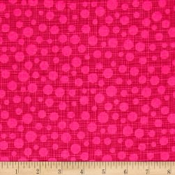 Michael Miller Hash Dot Fuschia Fabric