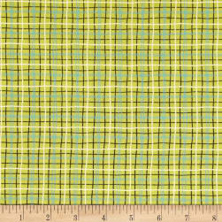 Michael Miller Ike & Oona Lunchbox Limeade Fabric